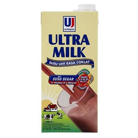 Ultra Milk 1000ml ultra milk uht chocolate 1000ml x 3 elevenia