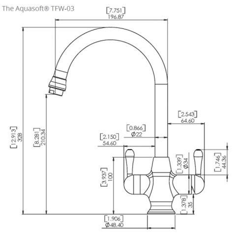 Kitchen Mixer Dimensions Doulton 174 Hip Triflow Tap Combi Sink Water