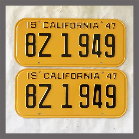 1947 1949 california yom license plates for sale