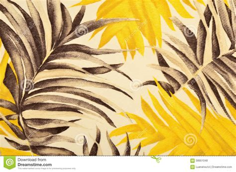 yellow leaf pattern fabric tropical brown and yellow leaves pattern on fabric stock