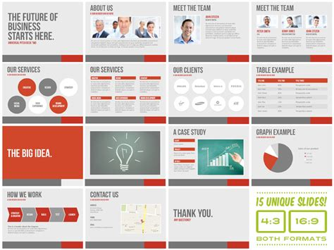 pitch template powerpoint universal pitch deck two powerpoint by pitchstock on