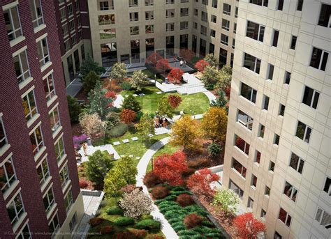apartment courtyard trilogy boston apartment building and courtyard