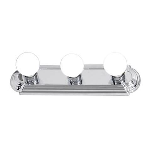 home depot bathroom light bars hton bay 3 light chrome flushmount raceway bath bar light