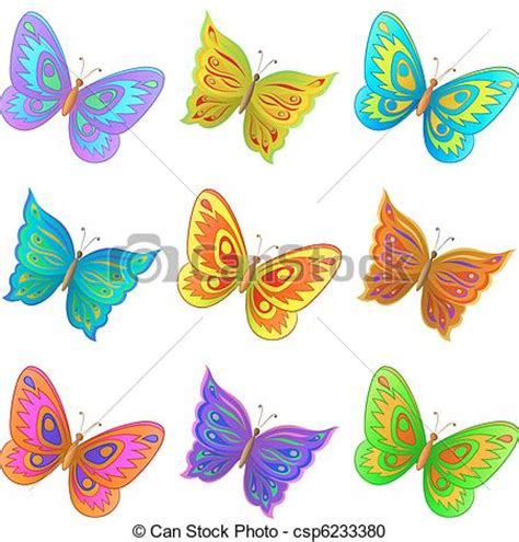 imagenes de mariposas a color clipart vettoriali di farfalle set vettore set da