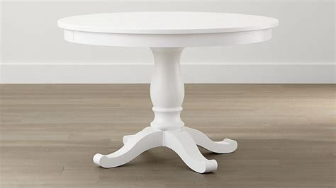 White Table by Avalon 45 Quot White Extension Dining Table Crate And Barrel