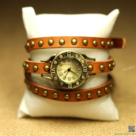 Handcrafted Watches - wristwatch wrapped wrap rivet