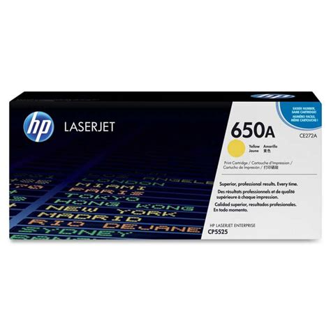 Toner Laserjet Hp 650a toner hp 650a ce272a amarillo laserjet cp5525 m750 ce272a mastoner