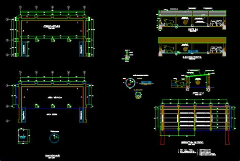 cattle shed  autocad cad   kb bibliocad