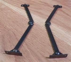 Secretary Desk Hinge Folding Drop Lid Desk Support Stay 7 Inch Pair In Bronze