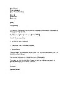 Birth Certificate Request Letter Template request for birth certificate business form template