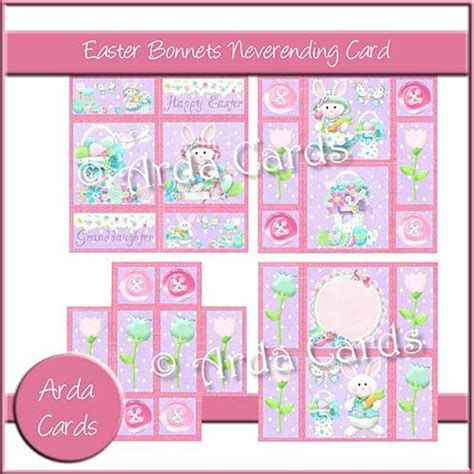 never ending card template easter bonnets neverending card