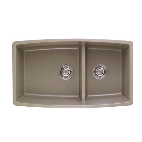 composite kitchen sinks undermount blanco performa undermount composite 33 in double basin