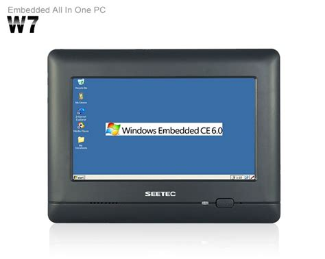 Touchscreen Mini 1 7 quot touch screen all in one industrial panel battery powered mini pc with rs232 sd card slot