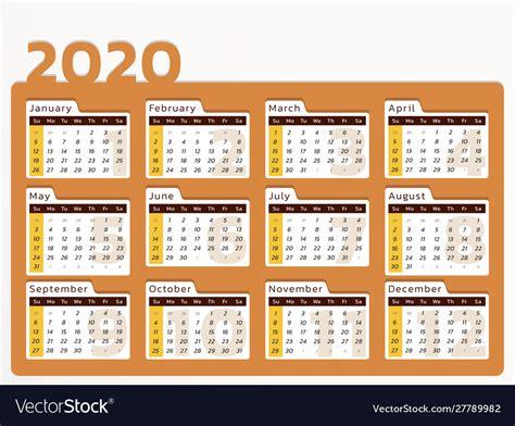desk calendar  year   orange design vector image