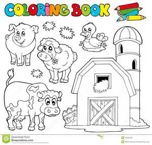 Farm animals coloring pages for kids page 1