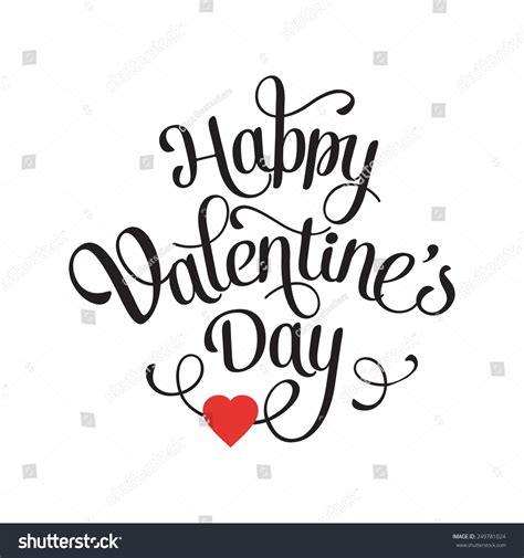 happy valentines day font vector happy valentines day vintage card stock vector