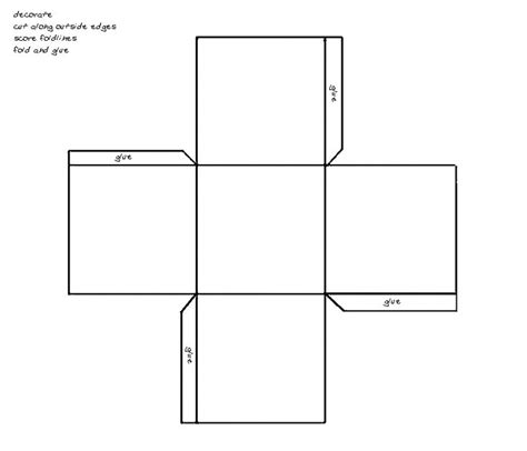 How To Make A Square Box Out Of Paper - best photos of small square template printable free