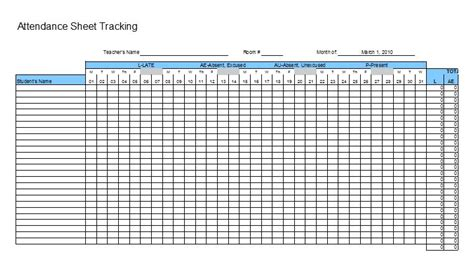 tracking sheet template for teachers 38 free printable attendance sheet templates