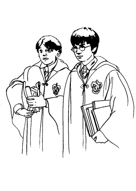 harry potter coloring pages ron coloring smart printable coloring pages for your kids