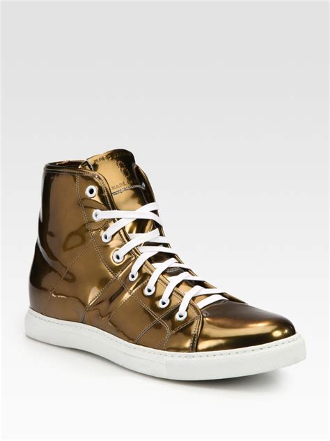 marc sneaker marc high top sneaker in gold for copper lyst