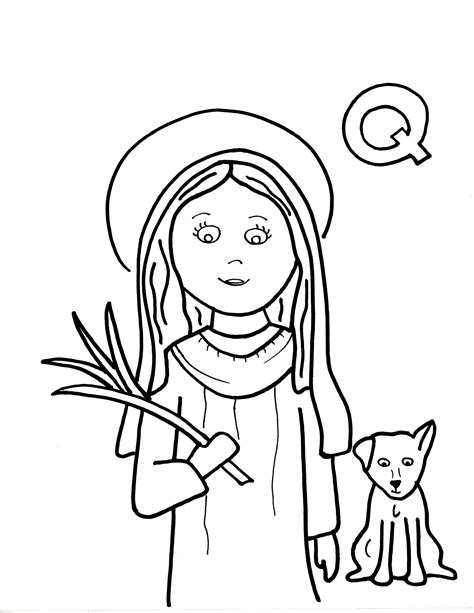 free coloring pages of st therese of lisieux