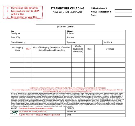 bill of lading template excel selimtd