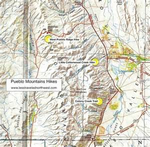 map of mountains in oregon day hikes in the pueblo mountains