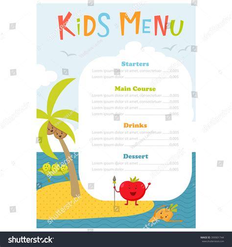 menu meal menu vector template with