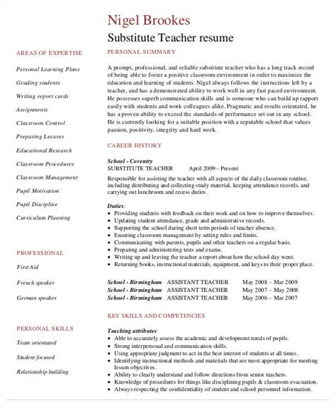 resume sles for teachers with no experience pdf free resume 40 free word pdf documents free premium templates
