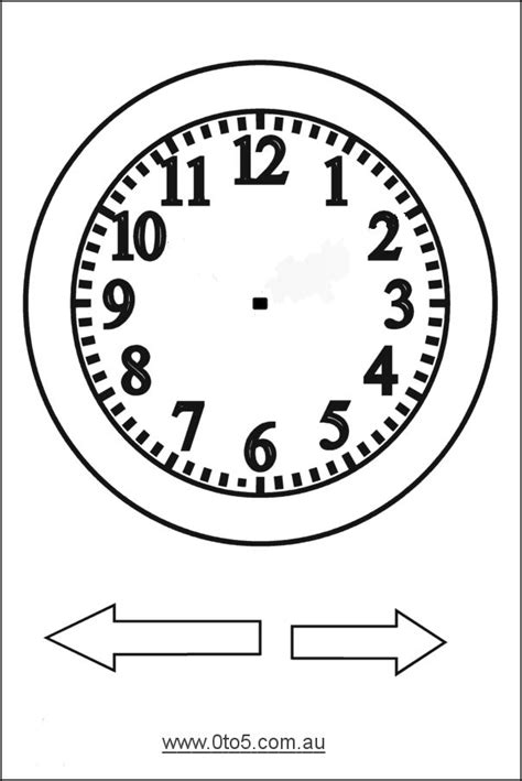 printable student clock free printable clock patterns printable analogue clocks
