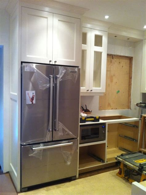 refrigerator kitchen cabinets 17 best images about cabinet depth refrigerator on pinterest