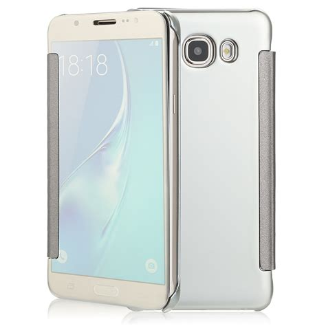 Samsung J7 2016 Mirror Cover Flip For Samsung Galaxy J7 2016 39 for samsung galaxy j7 protective mirror clear view window smart flip cover
