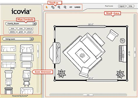 Icovia Room Planner the icovia space planner layout