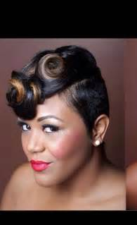 pin curl hair style for black collections of pin curls black hairstyles bridesmaid