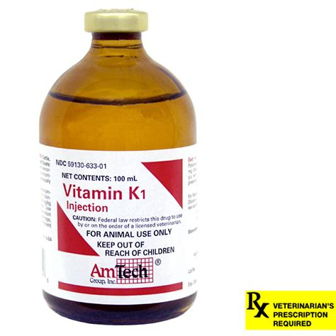 vitamin k1 for dogs vitamin k1 rx injectable 100 ml