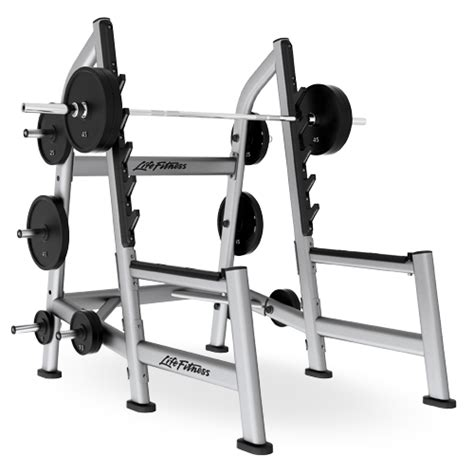 life fitness bench press bar weight olympic squat rack sosr life fitness