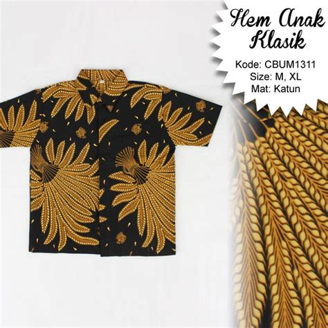 Batik Pekalongan Kemeja Batik Clasik Hz kemeja batik anak klasik cemeng kemeja murah batikunik