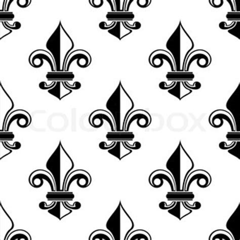 black and white french pattern classical french black and white fleur de lis seamless