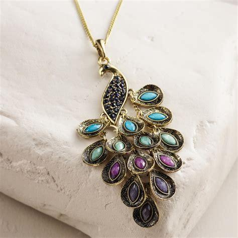 Home Decor Store Online peacock pendant necklace world market
