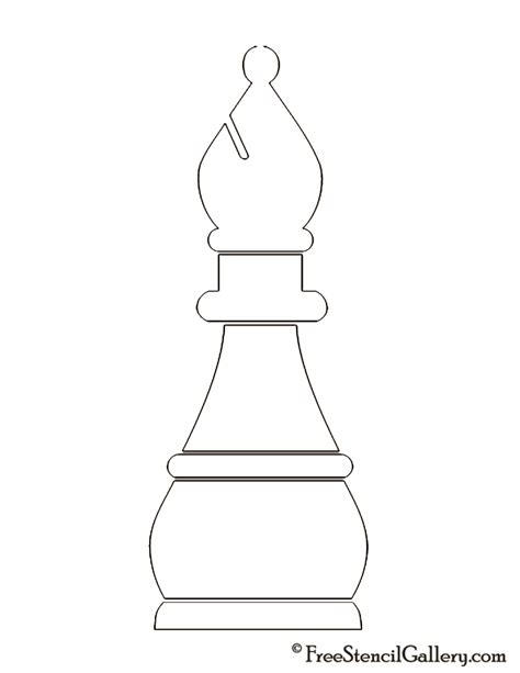 Chess Pieces Outline by Chess On