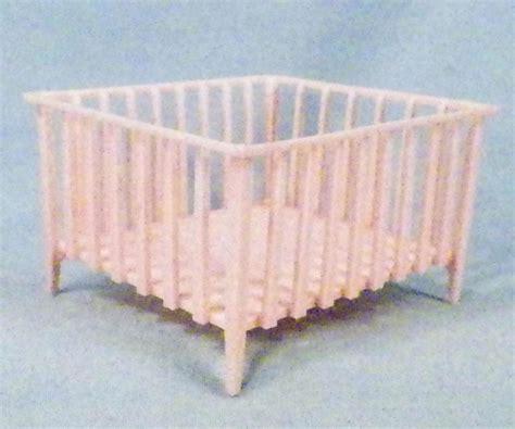 plastic crib baby crib dollhouse miniature furniture pink plastic vintage 1950s ebay