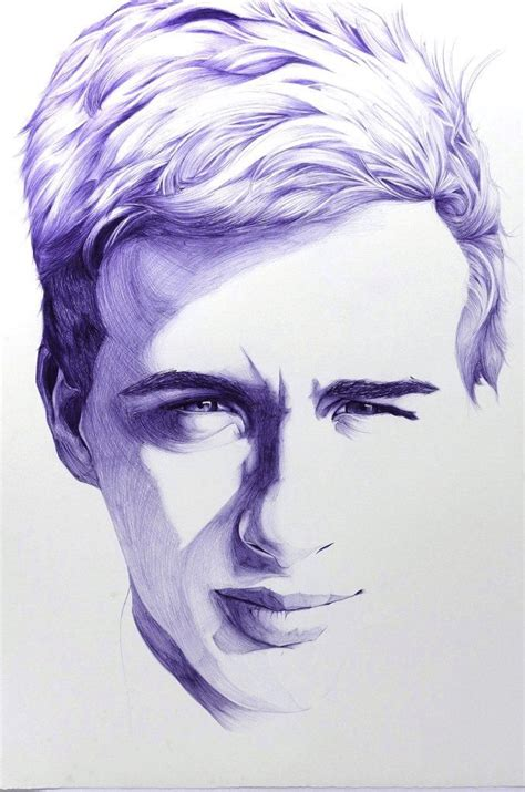 Sketches In Pen by Portrait Ballpoint Pen 57cm X 76cm 1photo