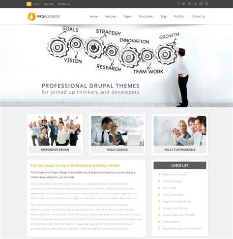 theme drupal cv 45 free and premium responsive drupal 7 themes