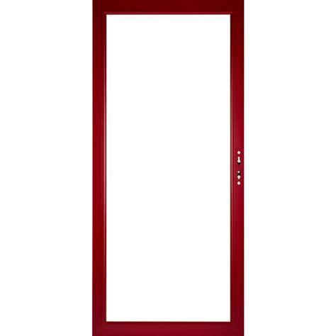 Bathroom Organization Ideas Pinterest shop pella select aluminum 36 in x 81 in real red storm