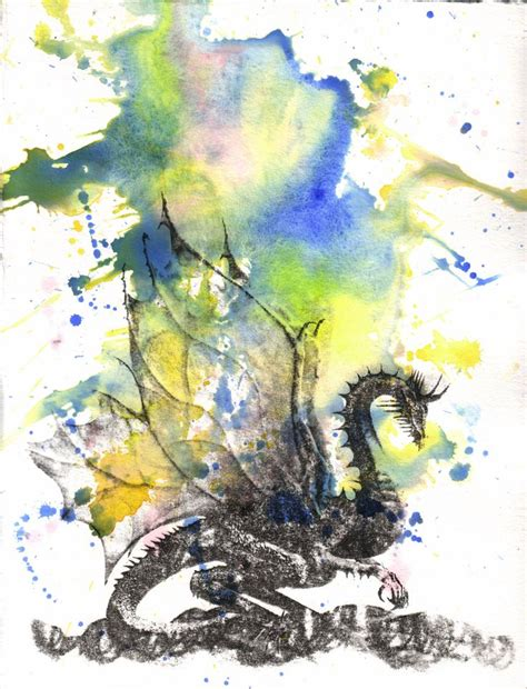 old watercolor tattoo mythical watercolor painting original watercolor
