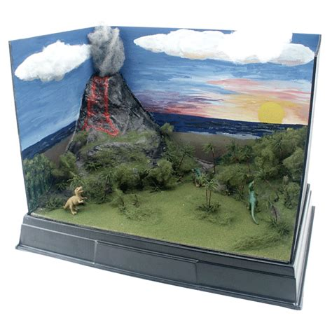 free printable dinosaur diorama backgrounds dioramas school project how to diorama school display