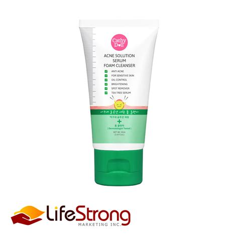 cathy doll acne solution serum foam cleanser lifestrong marketing inc