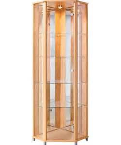 Glass Cabinet Argos by Buy Corner Glass Display Cabinet Beech Effect At Argos