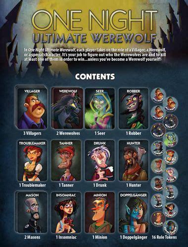 pin oleh cards    night ultimate werewolf