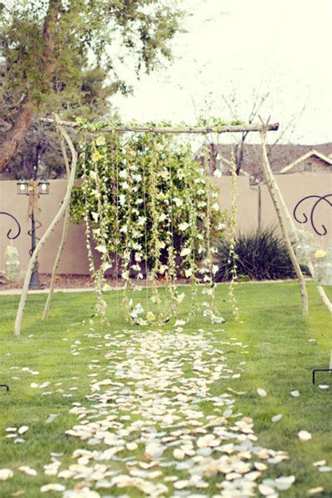 backyard ceremony a backdrop for you wedding ceremony lucysaysido